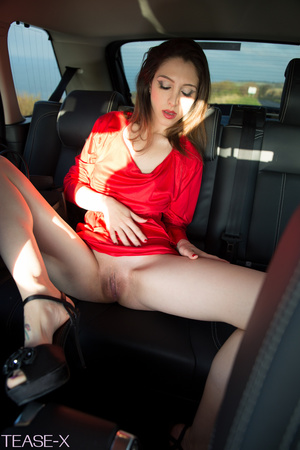 Highly alluring hottie rides on a car in - XXX Dessert - Picture 8