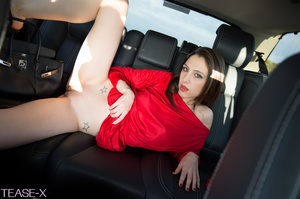 Highly alluring hottie rides on a car in - XXX Dessert - Picture 9