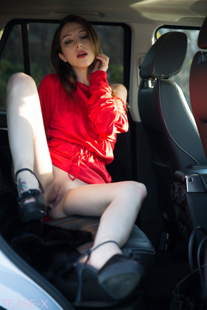 Highly alluring hottie rides on a car in - XXX Dessert - Picture 12