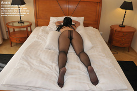 black, bondage, pantyhose, white