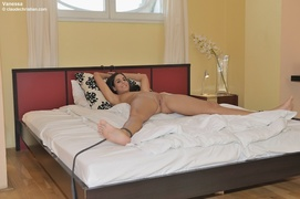 bondage, brunette, pantyhose, pillow
