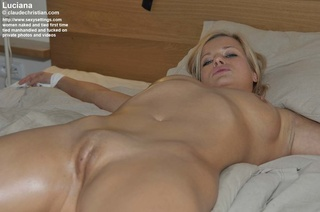 slutty blonde stomach tied