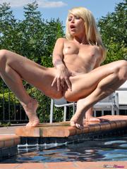 slim tattooed sexy blonde