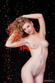 curly blonde chick shows