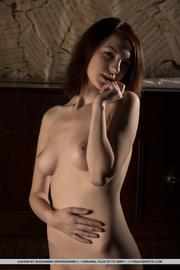 lusty brunette slowly peels