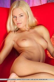 graceful blonde bends large