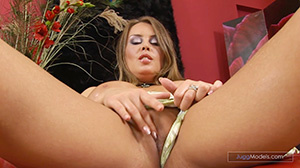 Blonde hotties in alluring lingerie dril - XXX Dessert - Picture 1