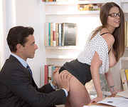 amazing brunette office chick