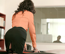 brunette, office sex, pantyhose, stockings