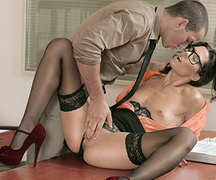 babe, lady, office sex, pantyhose