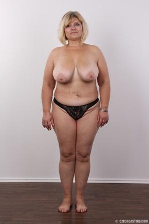Blonde MILF takes off her brown shirt bl - XXX Dessert - Picture 9