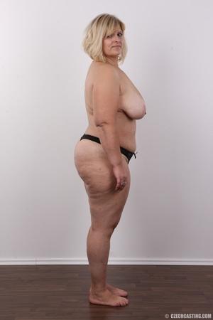 Blonde MILF takes off her brown shirt bl - XXX Dessert - Picture 10