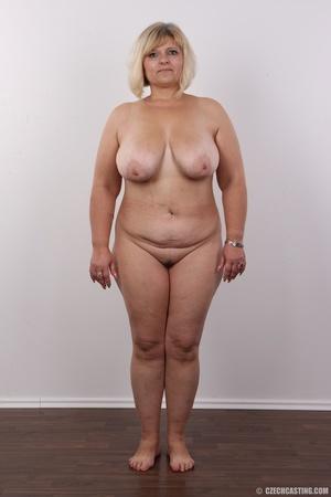Blonde MILF takes off her brown shirt bl - XXX Dessert - Picture 14