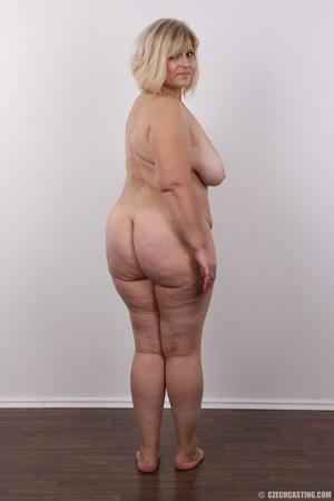 Blonde MILF takes off her brown shirt bl - XXX Dessert - Picture 17