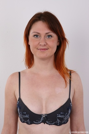 Lovely redhead takes off her brown sweat - XXX Dessert - Picture 6