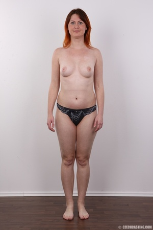 Lovely redhead takes off her brown sweat - XXX Dessert - Picture 9