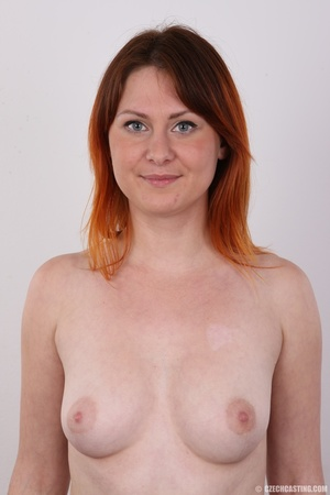 Lovely redhead takes off her brown sweat - XXX Dessert - Picture 11