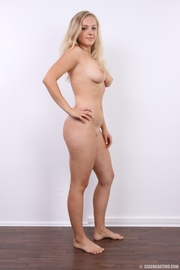 cute blonde peels off