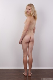 skinny blonde floral blouse