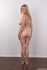 cute blonde wearing red
