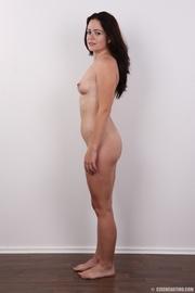 sweet brunette strips off