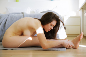 Long-haired brunette freshie flaunting h - XXX Dessert - Picture 11