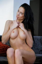 busty brunette vixen demonstrating