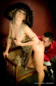 elegant hottie wearing leopard