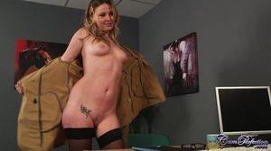 Foxy blonde takes off her brown coat and - XXX Dessert - Picture 2