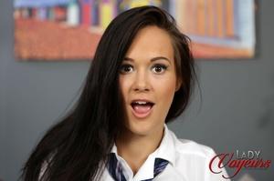 Teen chick in school uniform wearing whi - XXX Dessert - Picture 6
