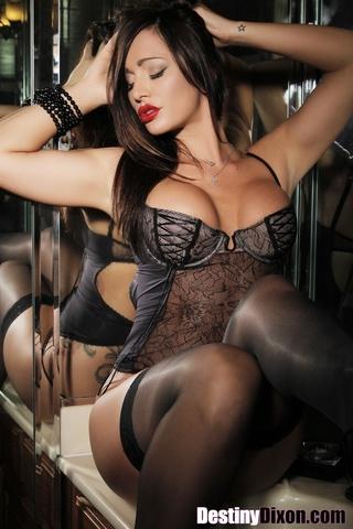 luscious babe wearing black