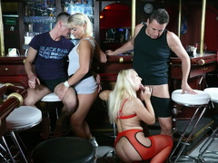 bar, group sex, hardcore, orgy