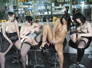 four brunette bitches stockings