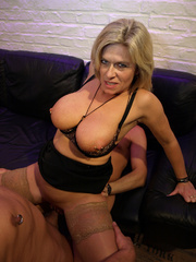 busty mature blondie with