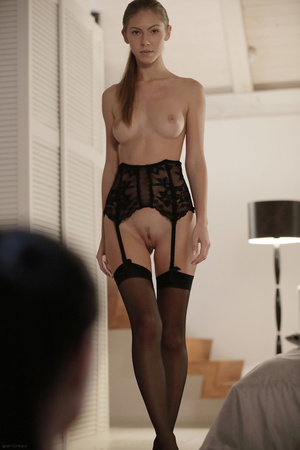 Two ponytailed freshies in stockings lez - XXX Dessert - Picture 11