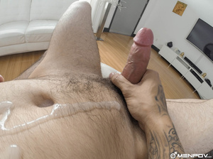 Bearded hunk stuffs a twinks ass with hi - XXX Dessert - Picture 1