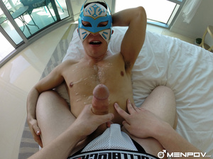 Dude in a mask drives his dick up a guy  - XXX Dessert - Picture 5