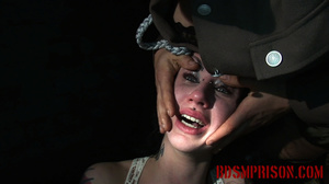 Emo chick in a white dress experiences pain from clothes pins and mouse traps - XXXonXXX - Pic 14