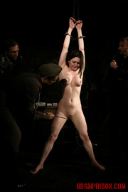 chained naked girl gets