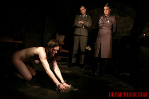 Chained naked girl gets tortured and pisses at the dungeon. - XXXonXXX - Pic 15