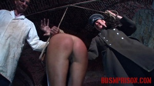 Gal in her black undies gets gagged with her panties and whipped. - XXXonXXX - Pic 11