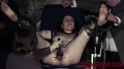 bare woman gyno chair