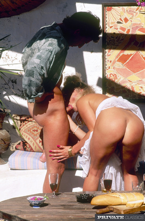 Alluring blonde lets two hot dudes take  - XXX Dessert - Picture 11
