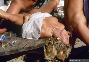 Alluring blonde lets two hot dudes take  - XXX Dessert - Picture 14