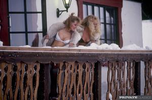 Sexy blonde chicks wearing white and bla - XXX Dessert - Picture 1