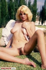 stunning blonde displays her