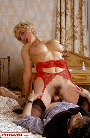 Short haired blonde sucks her hubby's di - XXX Dessert - Picture 13