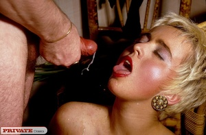 Short haired blonde sucks her hubby's di - XXX Dessert - Picture 14
