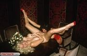 alluring blonde hottie dispays