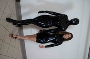 masked latex mistress and